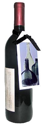 Bottle with handing Bottle Card